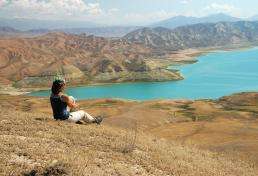 Toktogul water reservoir