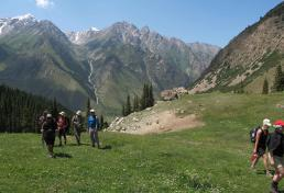 Trekking at Tian-Shan