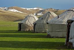 Yurt camp in Son-Kul lake
