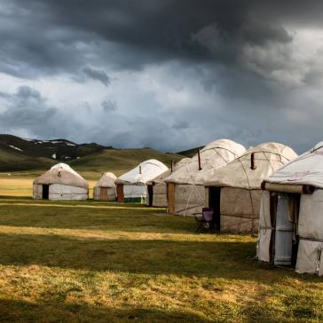 Yurt camp at Son-Kul lake